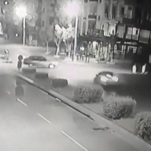 Mersinde baba ve oğlunun hayatını kaybettiği kaza kamerada
