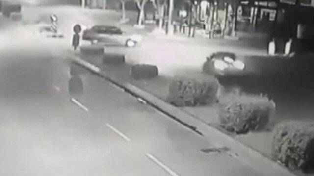 Mersin'de baba ve oğlunun hayatını kaybettiği kaza kamerada