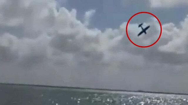 Meksika'da uçağın düşme anı kameraya yansıdı