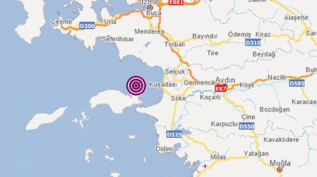 Kuşadası'nda deprem