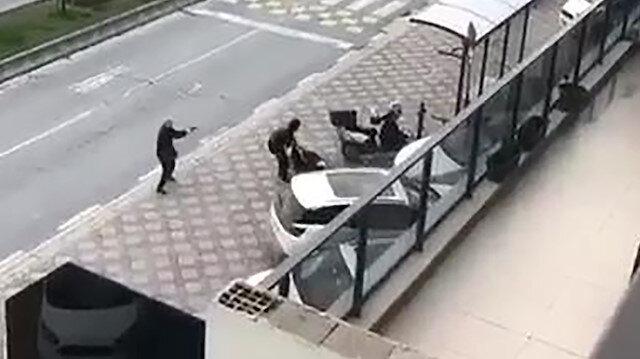 Başakşehir'deki silahlı çatışma kameralara yansıdı