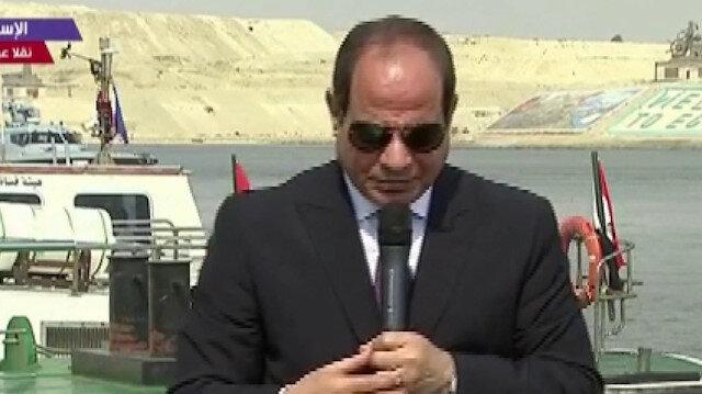 Mısır'ın darbeci Cumhurbaşkanı Sisi'nin siren çalan gemi ile imtihanı