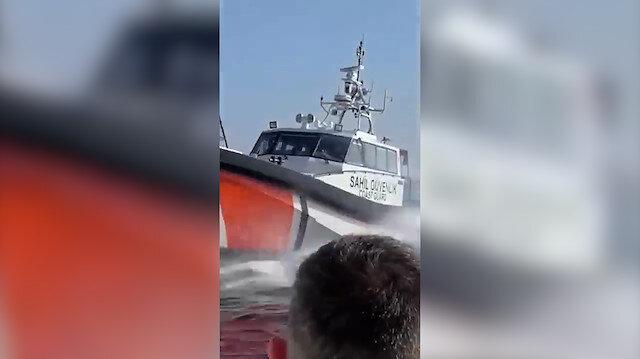 Türk Sahil Güvenlik ekipleri mültecileri iten Yunanistan botlarını önledi