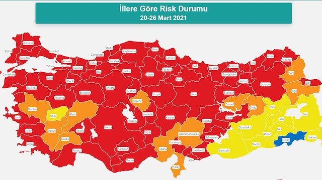 Türkiye risk haritası: Hafta sonu yasakları hangi illerde var?