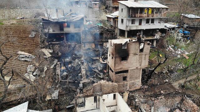 Artvin'de yangın felaketi: Gün ağarınca ortaya çıktı