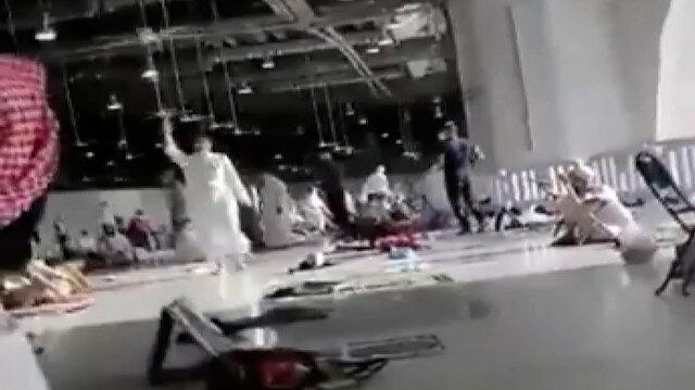 Mekke'de DEAŞ yanlısı sloganlar atan bıçaklı şahıs gözaltına alındı