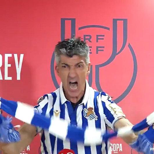 34 yıl sonra gelen kupa Real Sociedad Teknik Direktörü Algucili çılgına çevirdi
