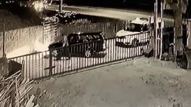 Trabzon'da polisten kaçan şüpheliler böyle kaza yaptı