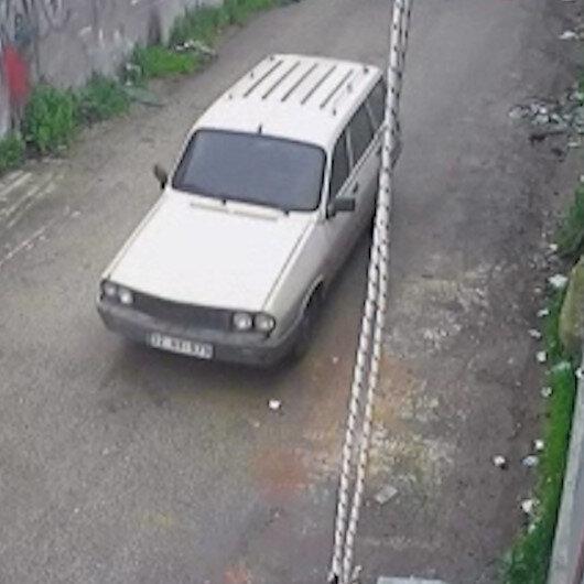 Osmaniyede park halindeki otomobili saniyeler içinde çaldılar
