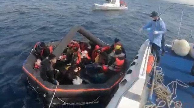 Yunanistan yine ölüme terk etti: 27 kaçak göçmeni Türk Sahil Güvenliği kurtardı