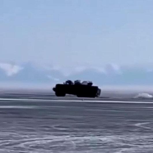 Rusyada askeri araç Baykal Gölüne gömüldü