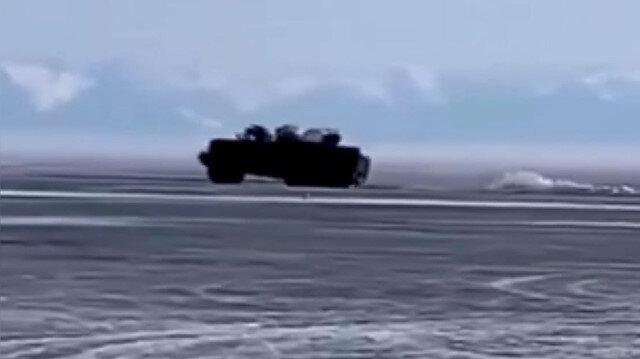 Rusya'da askeri araç Baykal Gölü'ne gömüldü
