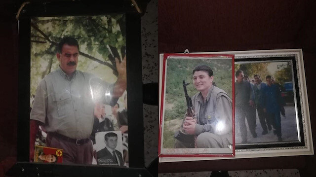 HDP il binasında terör örgütü PKK paçavraları ele geçirildi