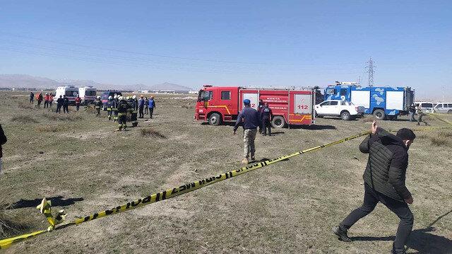 Konya'da gösteri uçağı düştü: Pilotumuz şehit oldu