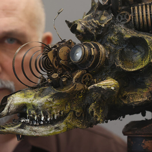 Turkish artist turns waste into 'post-apocalyptic' art