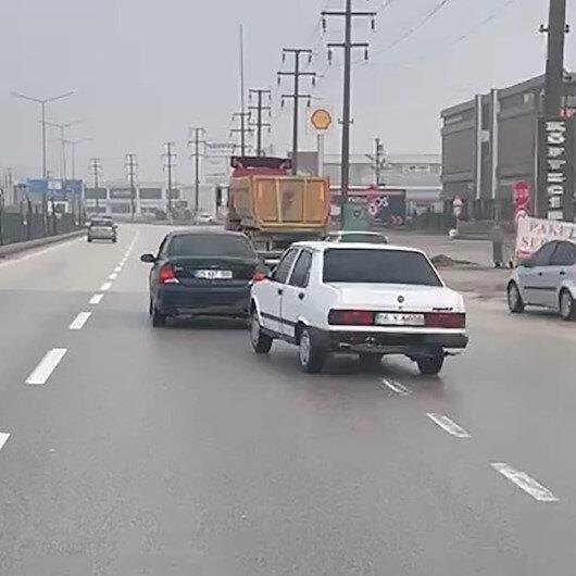 Bursada arızalanan aracın şoförsüz çekildiğini görenler şaşkına döndü