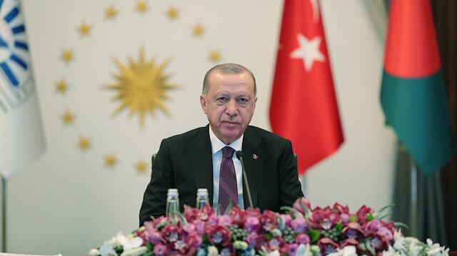 Cumhurbaşkanı Erdoğan D-8 Zirvesi'nde seslendi: Yerel parayla ticarete ağırlık vermeliyiz