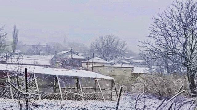 Beklenen kar Balkanlar'dan ülkemize giriş yaptı: Edirne beyaza büründü