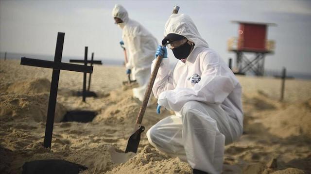 Brezilya'da ağır bilanço: Son 24 saatte 3 bin 829 kişi Kovid-19 nedeniyle öldü