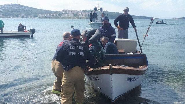 Foça'dan düşen askeri eğitim uçağı motor arızası nedeniyle kaza kırıma uğradı