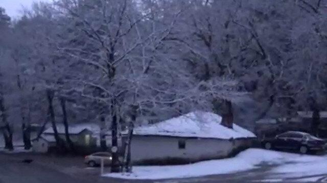 Nisan ayında Kazdağları'nda kar sürprizi