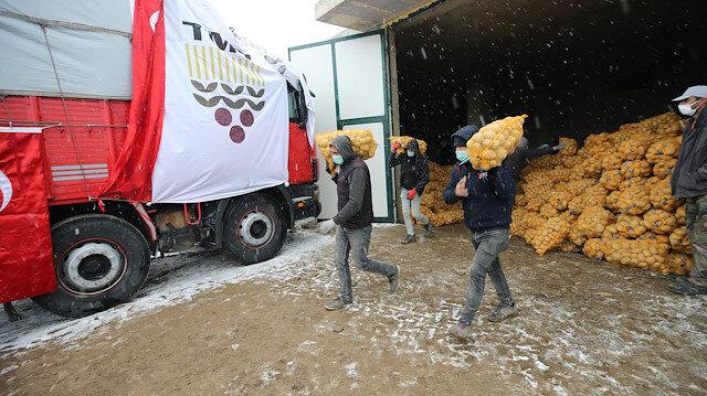 Ürünler çiftçiden satın alınıp vatandaşlara ücretsiz dağıtacak