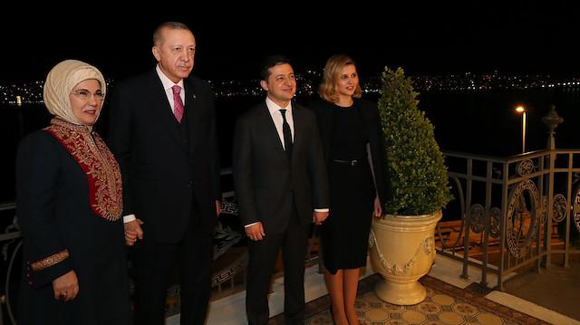 Erdoğan ailesi Zelenskiy ailesi ile akşam yemeğinde bir araya geldi