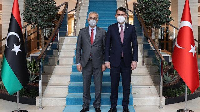 Bakan Kurum Libya İskan ve İmar Bakanı Ebubekir Muhammed El-Gavi'yle görüştü