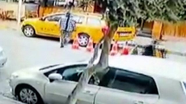 İzmir'de film gibi olay: Kaçırdığı taksi ile yayaya çarpan sürücü, kovalamaca sonucu yakalandı