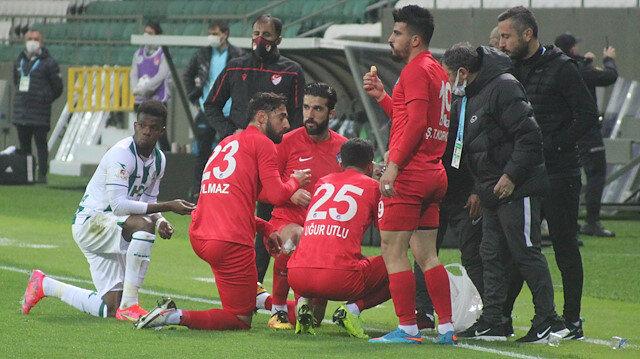 GZT Giresunspor-Keçiörengücü maçında futbolcular oruçlarını açtı
