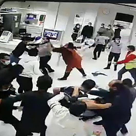 Sivasta hasta yakınları güvenlik görevlilerine saldırdı