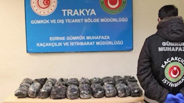 Kapıkule'de 200 bini aşkın uyuşturucu hap ele geçirildi