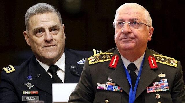 Genelkurmay Başkanı Orgeneral Güler ABD'li mevkidaşı Milley ile telefonda görüştü