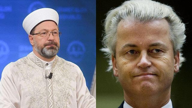 Diyanet İşleri Başkanı Erbaş'tan,  Geert Wilders'a tepki: Irkçı bir siyasetçinin söylemleri asla kabul edilemez
