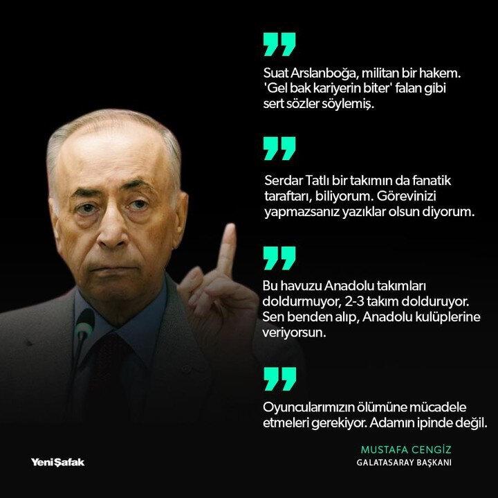 Mustafa Cengiz'in açıklamalarından satır başları