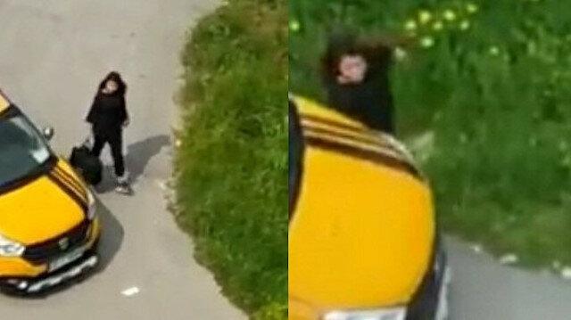 Genç kıza sokak ortasında dehşeti yaşatmıştı: O taksici ağabeyi çıktı