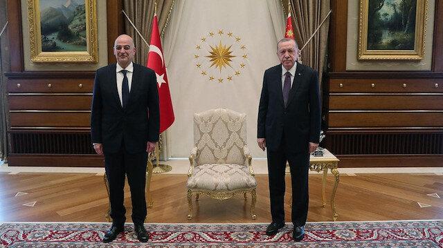Cumhurbaşkanı Erdoğan Yunanistan Dışişleri Bakanı Dendias'ı kabul etti