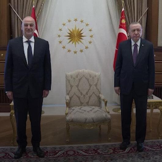 Cumhurbaşkanı Erdoğan, Yunanistan Dışişleri Bakanı Dendiası kabul etti