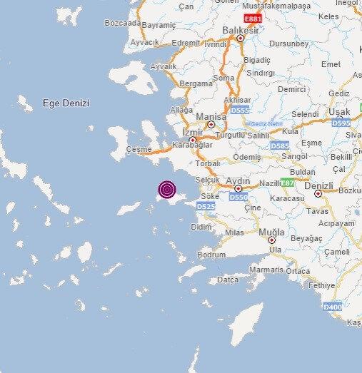 İzmir'in Seferihisar ilçesi açıklarında 3.9 büyüklüğünde deprem meydana geldi.