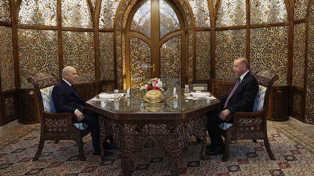 Cumhurbaşkanı Erdoğan ile MHP Genel Başkanı Bahçeli iftarda bir araya geldi