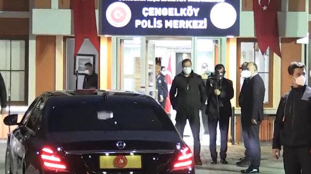 Cumhurbaşkanı Erdoğan, iftar için Çengelköy Polis Merkezi'ne geldi