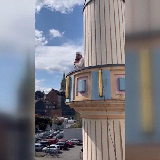 Almanyanın Wuppertal kentinde cuma ezanı ilk kez minareden okunmaya başlandı