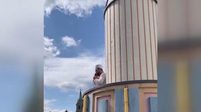 Almanya'nın Wuppertal kentinde cuma ezanı ilk kez minareden okunmaya başlandı
