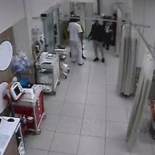 Beylikdüzü'nde hastanede korona virüs testi istemeyen adam sağlıkçılara dehşet yaşattı