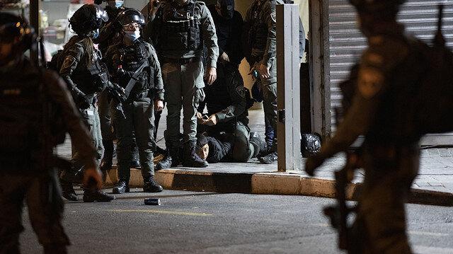 Kudüs'te işgalci İsrail polisi teravih namazı sonrası Filistinlilere yine müdahale etti