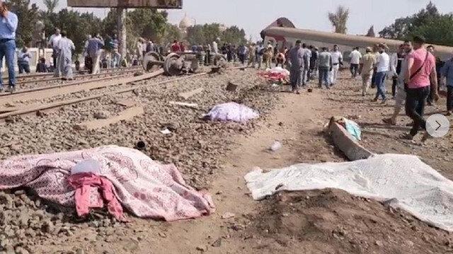 Mısır'da feci kaza: Tren raydan çıktı 8 ölü 100'den fazla yaralı