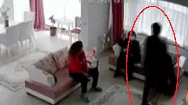 Dört aylık bebeği camdan atlayarak kaçırdı