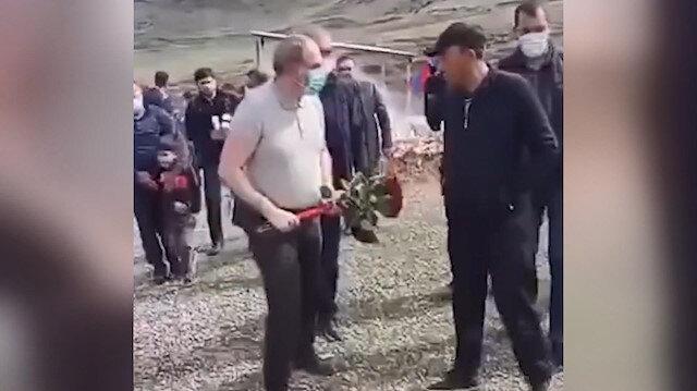 Ermenistan Başbakanı Paşinyan'a soğuk duş: Mezara çiçek bırakmasını engellediler