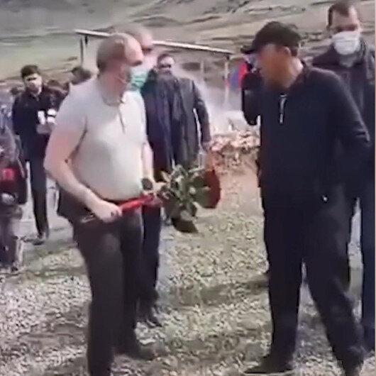 Ermenistan Başbakanı Paşinyana soğuk duş: Mezara çiçek bırakmasını engellediler