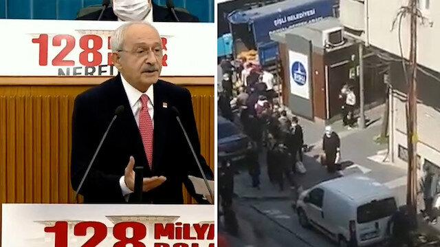 Kılıçdaroğlu'nun 'şu akla bakın' diyerek eleştirdiği patates dağıtımını bu kez Şişli Belediyesi yaptı